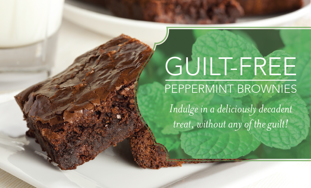 Peppermint Essential Oil Brownies Banner