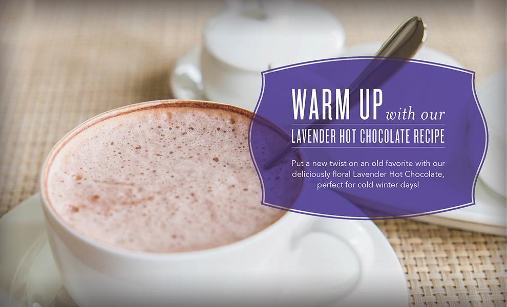 Lavender essential oil Hot Chocolate