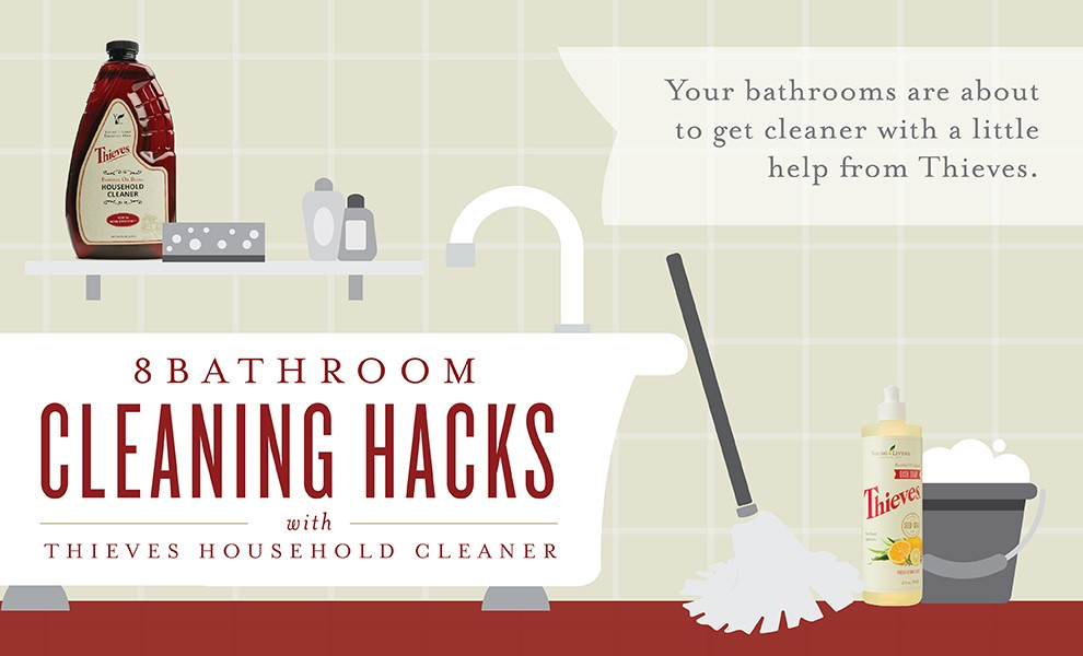 8 Bathroom cleaning Hack with Thieves household Cleane