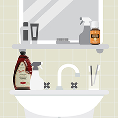 8 Bathroom Cleaning Hacks with Thieves Household Cleaner