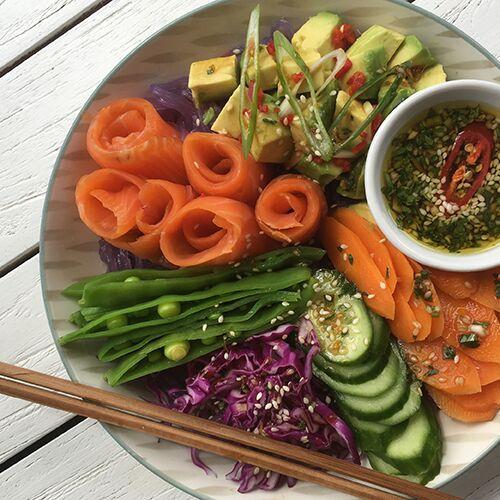 Salmon Poke Bowl Recipe by Chef Kate