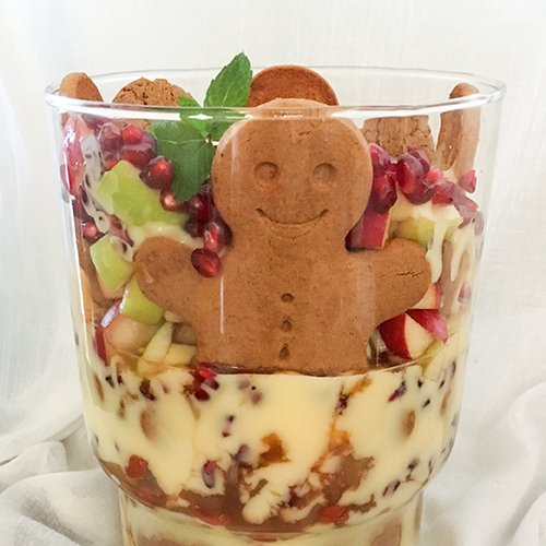 Cinnamon and Apple Ginger Snap Trifle with Wolfberries