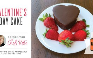 Chef Kate Valentines cake recipe with young living essential oils