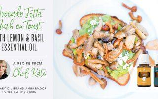Avocado Fetta Mash on Toast Recipe by Chef Kate