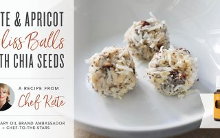 Date and Apricot Bliss Balls with Chia Seeds by Chef Kate