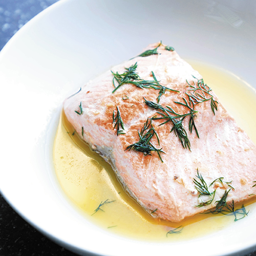 Salmon with Creamy Coconut Herb Sauce with Chef Kate