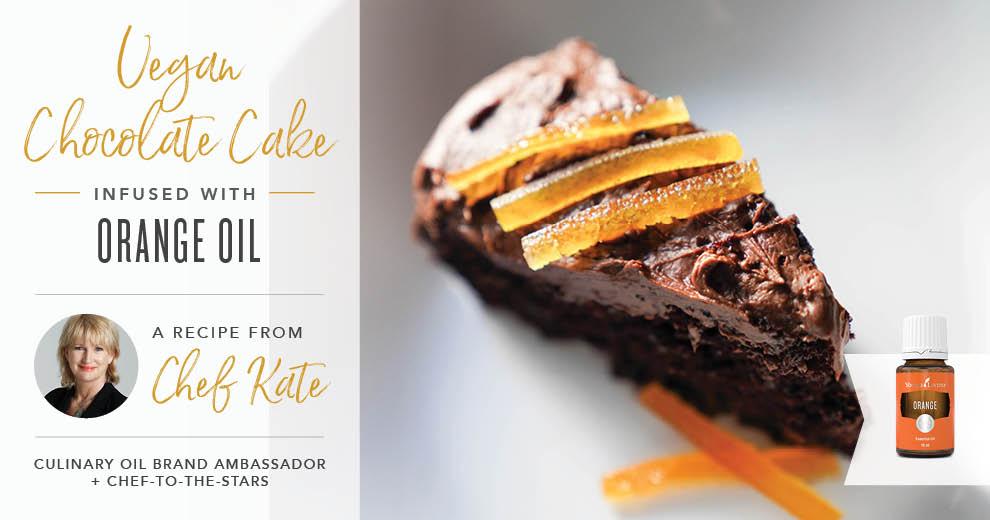 Vegan Chocolate Cake with Orange Oil