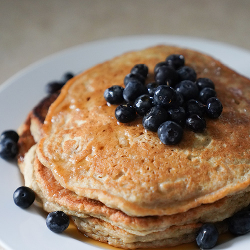 Blueberry Pancakes with Syrup & Orange Essential Oil