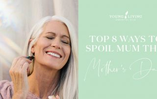 mom applying essential oil roll on featured image