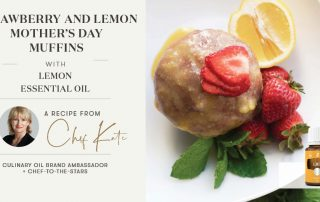 strawberry and lemon mohters day muffins with lemon oil