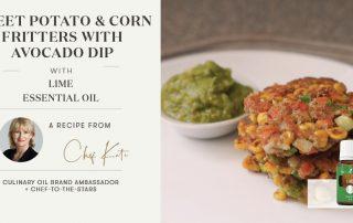 Sweet Potato & Corn Fritters with Avocado Dip Header