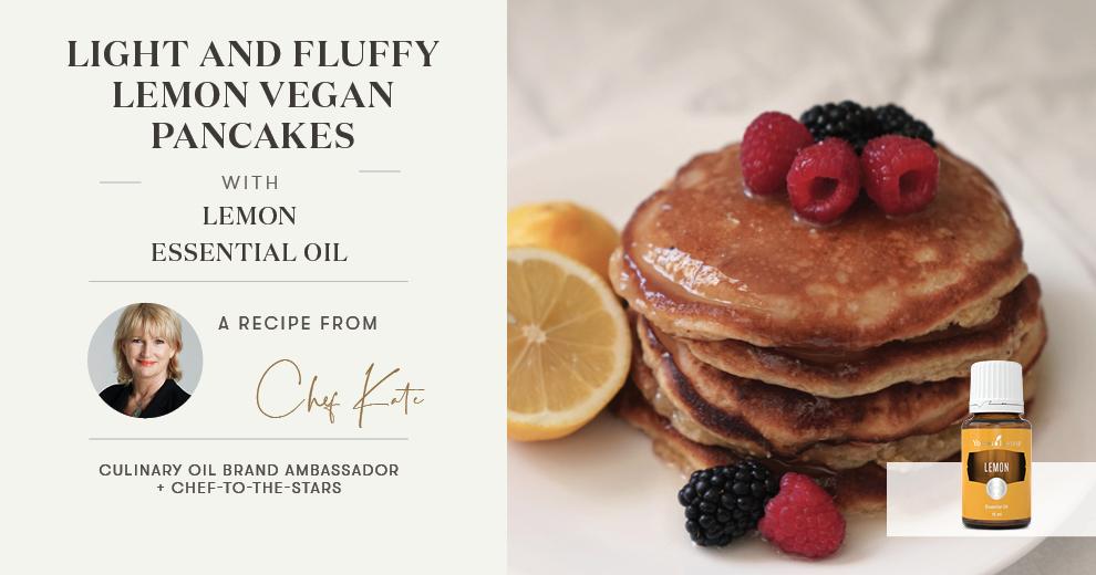 Light and Fluffy Lemon Vegan Pancakes