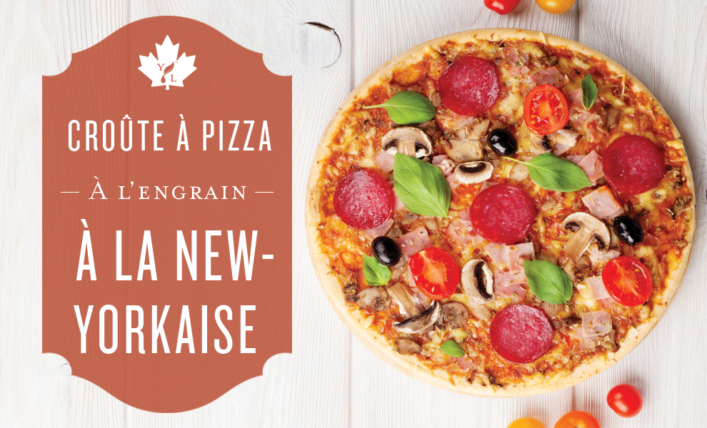 Croûte à pizza à l'engrain à la new-yorkaise
