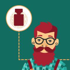 Eau de Cologne pour hommes avec des huiles essentielles à faire soi-même