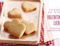 Valentinstagskekse in Herzform