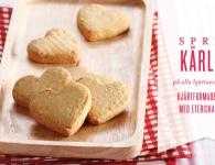 Hjärtformade kakor till alla hjärtans dag