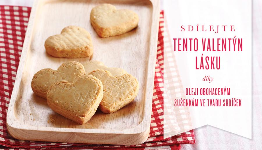 Valentýnské sušenky ve tvaru srdíček
