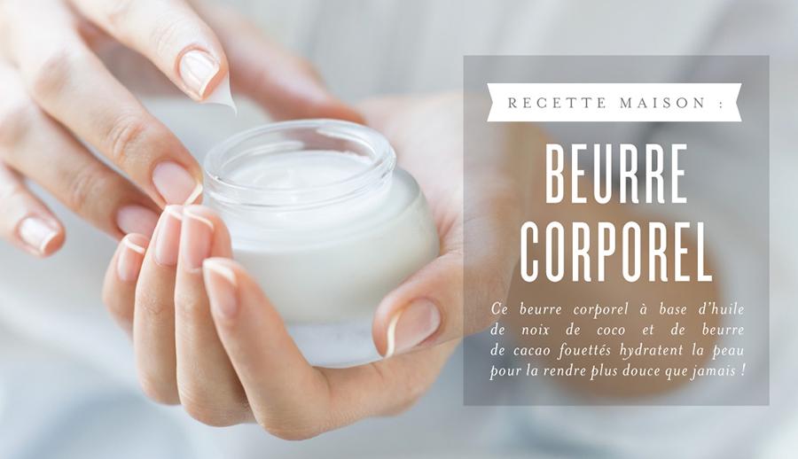Beurre corporel à l'huile de coco et aux huiles essentielles
