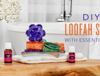 Homemade Loofah Soaps with Essential Oils