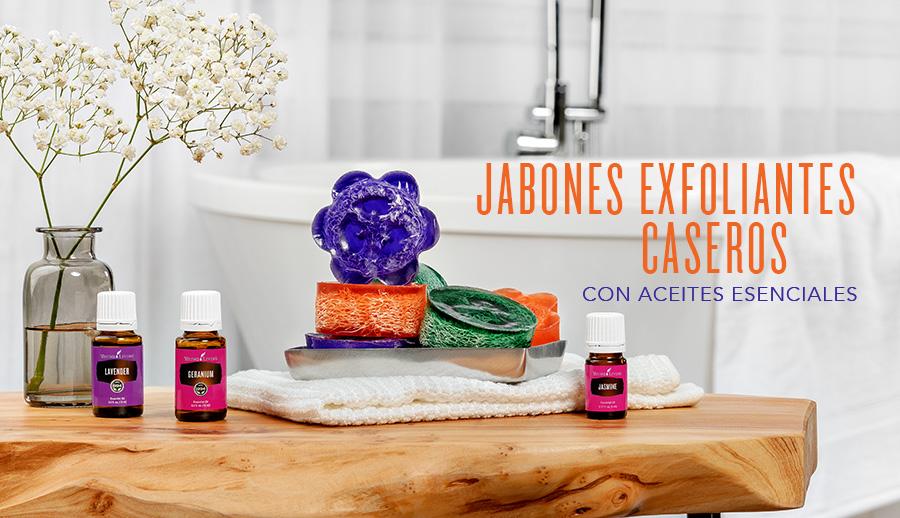 Jabones exfoliantes caseros con aceites esenciales