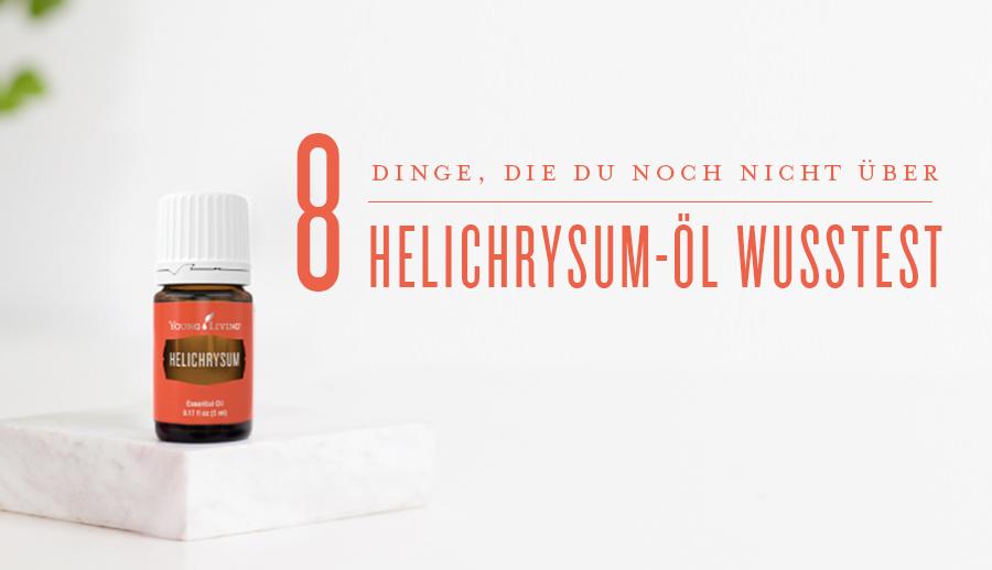 Eine Flasche Helichrysum-Öl, Eine Flasche Peppermint-Öl