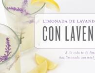 Limonada de lavanda y miel: si la vida te da limones, haz limonada con miel y lavanda