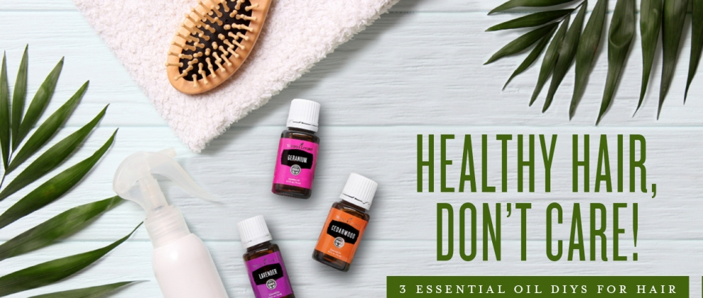 Essential Oils for Hair Care Products