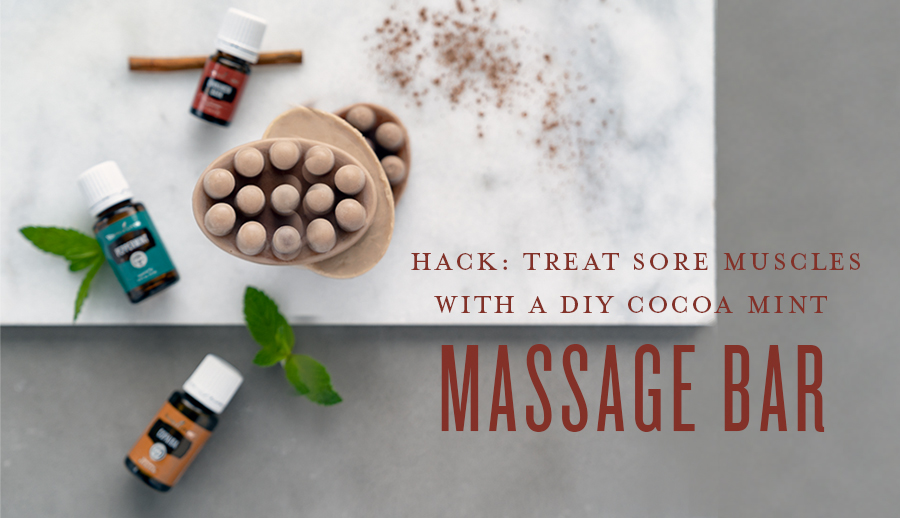 Treat sore muscles with a DIY cocoa mint massage bar