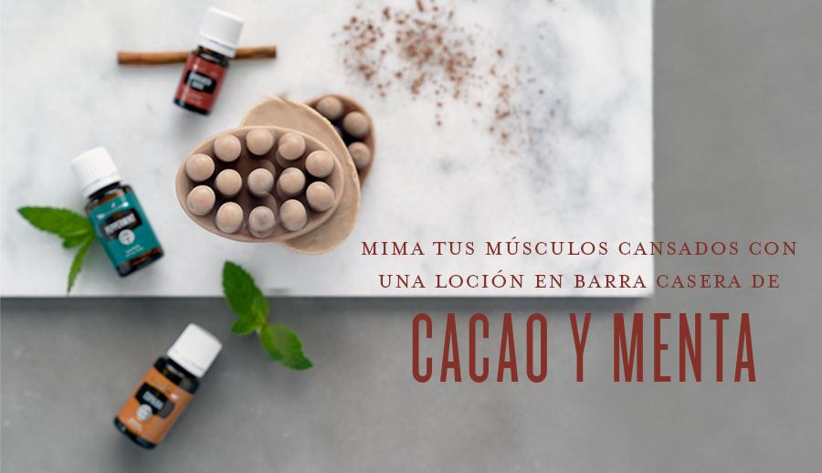 Alivia tus músculos cansados con una loción en barra casera de cacao y menta para masaje