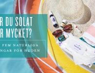 Naturliga solskyddsprodukter