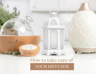 Cleaning your diffuser is important, since oil residue can build up on the inside, affecting how well it works. Make sure to show your diffuser some love!