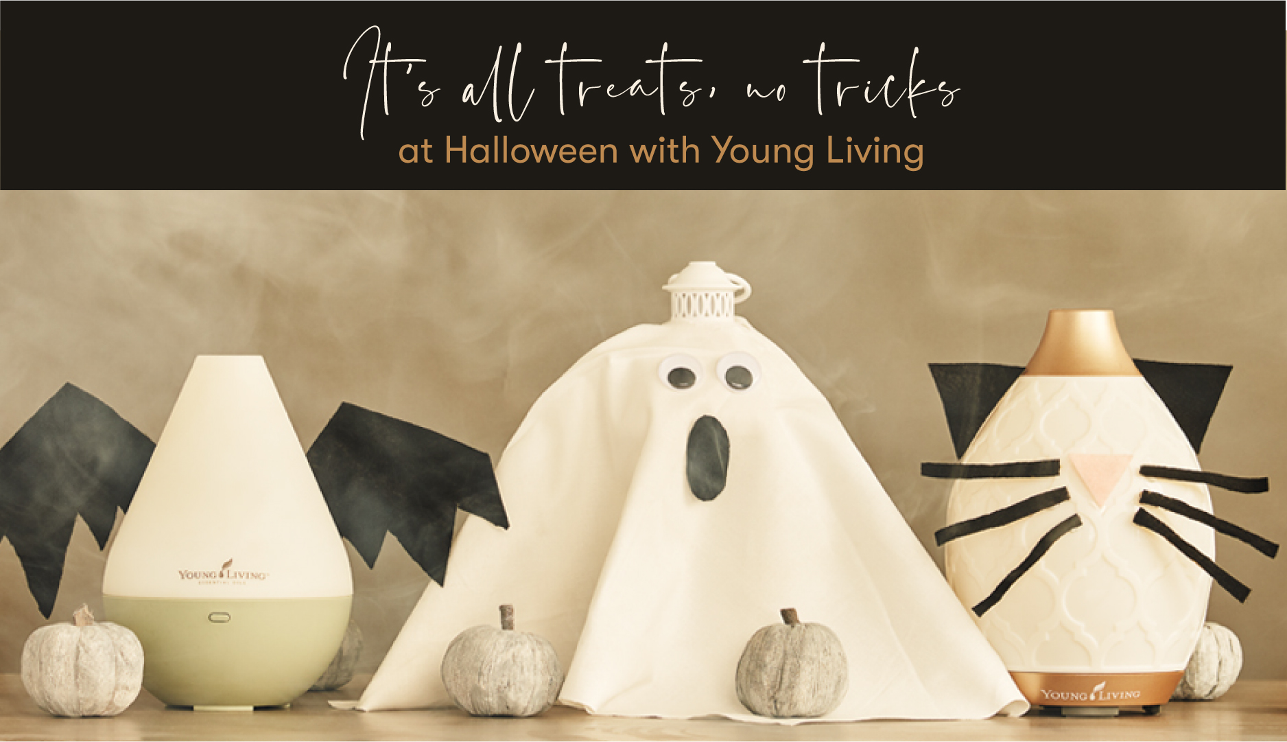 Essential Oil Diffusers with Halloween Costumes
