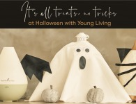 Young Living Halloween Blog with Decorated Diffusers