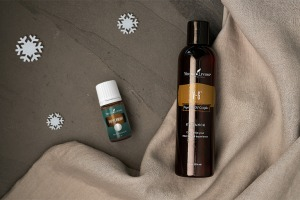 peppermint oil and V-6 oil for relaxing massage