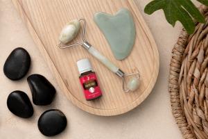 """""""Grapefruit"""" greipfrutų eterinis aliejus su masažo įrankiais"""