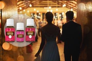 Recepție de nuntă de seară cu uleiuri esențiale de Ylang Ylang, iasomie și bergamotă