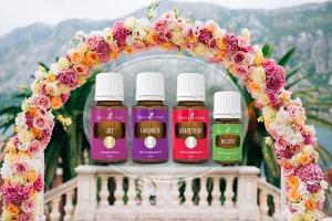 Arcul floral al ceremoniei de nuntă cu uleiuri esențiale Joy, Melissa, Grapefruit și Lavender