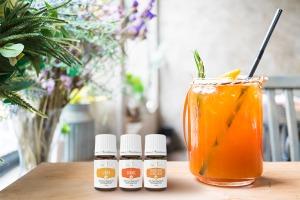 Huiles essentielles Orange+, Lemon+ et Young Living Citrus Fresh+