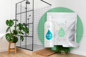 Gel de duș Morning Start și bile efervescente pentru duș `O briză de aer proaspăt`