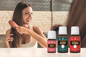 Óleos essenciais de néroli, alecrim e cedro para o cabelo