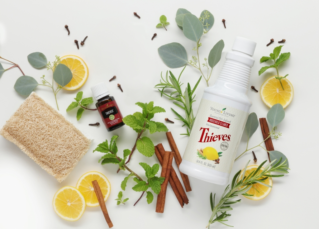 Thieves Household Cleaner and Thieves Essential Oil