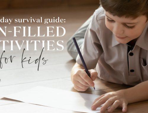 雨天「生存」指南:為小朋友而設的有趣活動