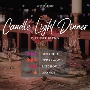 romantic essential oil diffuser blend recipe-Candle Light Dinner