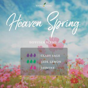romantic essential oil diffuser blend recipe-Heaven Spring