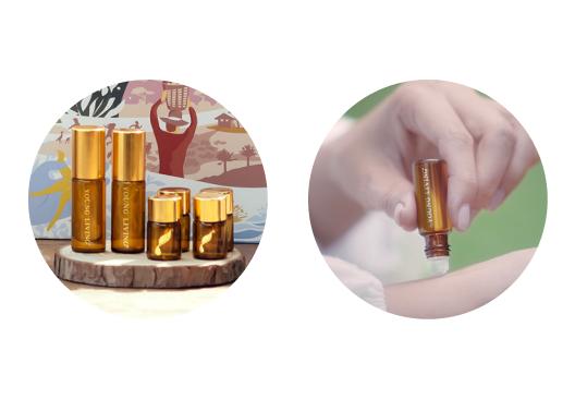 エッセンシャルオイル用遮光瓶(5mL) アロマグライド付x2 エッセンシャルオイル用遮光瓶(2mL)×4