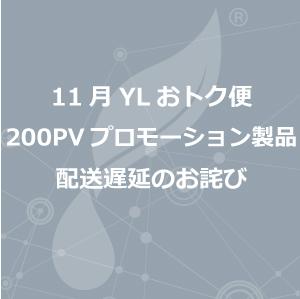 11月YLおトク便 200PV プロモーション製品 配送遅延のお詫び