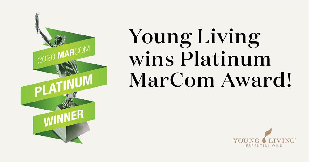 ヤング・リビングの映像がマーコム・プラチナ賞を受賞