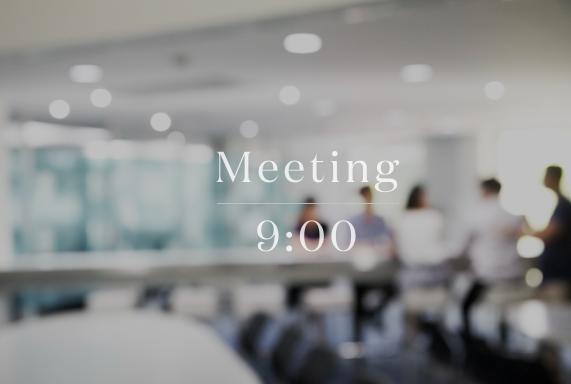 出社後すぐにミーティング参加。