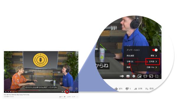 ※ Youtubeの設定画面から、日本語字幕をご選択ください。