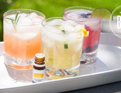 3 cocteles con aceites esenciales